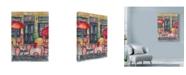 "Trademark Global Marietta Cohen Art And Design 'Cafe De Paris Umbrellas' Canvas Art - 24"" x 32"""