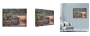"Trademark Global Wanda Mumm 'Bridge Over River' Canvas Art - 19"" x 14"""