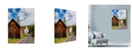 "Trademark Global Michael Blanchette Photography 'Autumn Road Barn' Canvas Art - 18"" x 24"""