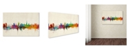 "Trademark Global Michael Tompsett 'Newcastle England Skyline' Canvas Art - 19"" x 12"""