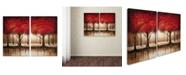 "Trademark Global Rio 'Parade of Red Trees' 2 Panel Art Set - 16"" x 24"""