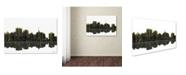 "Trademark Global Marlene Watson 'Oakland California Skyline II' Canvas Art - 16"" x 24"""