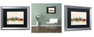 "Trademark Global Michael Tompsett 'Seattle WA' Matted Framed Art - 16"" x 20"""
