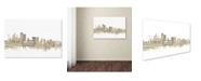 "Trademark Global Michael Tompsett 'Sydney Australia Skyline Sheet Music' Canvas Art - 16"" x 24"""