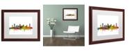 """Trademark Global Michael Tompsett 'Nashville Tennessee Skyline' Matted Framed Art - 16"""" x 20"""""""