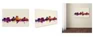 "Trademark Global Michael Tompsett 'El Paso Texas Skyline' Canvas Art - 30"" x 47"""