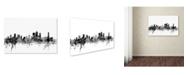 "Trademark Global Michael Tompsett 'Brisbane Australia Skyline B&W' Canvas Art - 30"" x 47"""