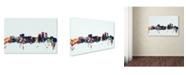 "Trademark Global Michael Tompsett 'Anchorage Alaska Skyline Blue' Canvas Art - 22"" x 32"""