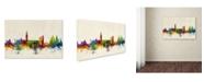 "Trademark Global Michael Tompsett 'Venice Italy Skyline Beige' Canvas Art - 30"" x 47"""