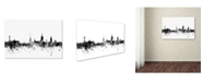 "Trademark Global Michael Tompsett 'Stockholm Sweden Skyline B&W' Canvas Art - 22"" x 32"""