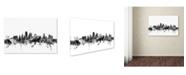 "Trademark Global Michael Tompsett 'Kansas City Skyline B&W' Canvas Art - 30"" x 47"""