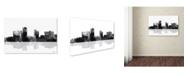 "Trademark Global Marlene Watson 'Little Rock Arkansas Skyline BG-1' Canvas Art - 30"" x 47"""