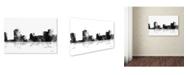"Trademark Global Marlene Watson 'New Orleans Louisiana Skyline BG-1' Canvas Art - 22"" x 32"""
