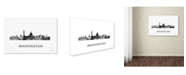 "Trademark Global Marlene Watson 'Washington DC Skyline WB-BW' Canvas Art - 30"" x 47"""
