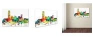 "Trademark Global Marlene Watson 'Oklahoma City Oklahoma Skyline SP' Canvas Art - 30"" x 47"""