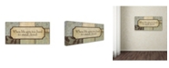 "Trademark Global Stephanie Marrott 'When Life' Canvas Art - 24"" x 47"""