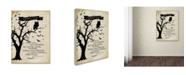"Trademark Global Stephanie Marrott 'Midnight Owl' Canvas Art - 24"" x 32"""