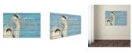 "Trademark Global Stephanie Marrott 'Heron Blue' Canvas Art - 30"" x 47"""