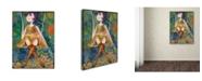 "Trademark Global Wyanne 'Big Eyed Girl Swing' Canvas Art - 35"" x 47"""