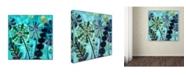 "Trademark Global Wyanne 'Retro Flowers' Canvas Art - 35"" x 35"""