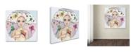 """Trademark Global Wyanne 'Butterfly Girl' Canvas Art - 35"""" x 35"""""""