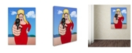 "Trademark Global Mark Ashkenazi 'Pink Flamingo' Canvas Art - 35"" x 47"""