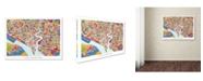"Trademark Global Michael Tompsett 'Southampton England City Map' Canvas Art - 24"" x 32"""