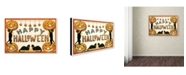 "Trademark Global Vintage Apple Collection 'Cute Cat Halloween' Canvas Art - 22"" x 32"""