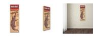 "Trademark Global Vintage Apple Collection 'Florida Croc' Canvas Art - 8"" x 24"""