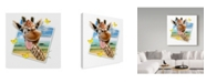 "Trademark Global Howard Robinson 'Giraffe Picture' Canvas Art - 35"" x 35"""
