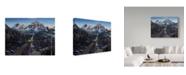 "Trademark Global Jeff Tift 'Train And Eagle' Canvas Art - 35"" x 47"""
