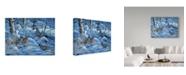 "Trademark Global Jeff Tift 'Winter Covey' Canvas Art - 24"" x 32"""