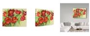 "Trademark Global Joanne Porter 'Double Red Tulips' Canvas Art - 35"" x 47"""