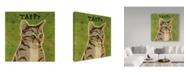 """Trademark Global John W. Golden 'Tabby Green' Canvas Art - 35"""" x 35"""""""