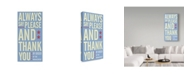 """Trademark Global John W. Golden 'Always Say Please And Thank You' Canvas Art - 24"""" x 47"""""""