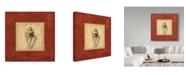 "Trademark Global Lisa Audit 'Red Frame Shell III' Canvas Art - 24"" x 24"""