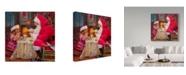"Trademark Global Steve Henderson 'Santa Tea For Two' Canvas Art - 24"" x 24"""