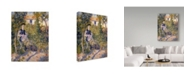 "Trademark Global Pierre Auguste Renoir 'Nini In The Garden' Canvas Art - 47"" x 35"""