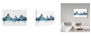 "Trademark Global Michael Tompsett 'Abu Dhabi Blue Teal Skyline' Canvas Art - 24"" x 16"""