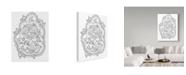 "Trademark Global Jessica Putnam 'Floral With Border 3' Canvas Art - 35"" x 47"""