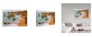 "Trademark Global Incredi 'Coastal Peaks' Canvas Art - 32"" x 22"""