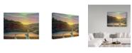 "Trademark Global James W. Johnson 'Sharing A Moment' Canvas Art - 32"" x 24"""