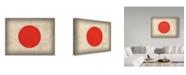 "Trademark Global Red Atlas Designs 'Japan Distressed Flag' Canvas Art - 47"" x 35"""