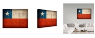 """Trademark Global Red Atlas Designs 'Chile Distressed Flag' Canvas Art - 32"""" x 24"""""""