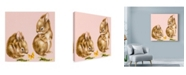 "Trademark Global Peggy Harris 'Bunnies Rabbits' Canvas Art - 35"" x 35"""