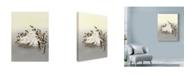 "Trademark Global Peggy Harris 'Swine And Roses' Canvas Art - 35"" x 47"""