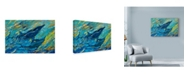 """Trademark Global Lucy P. Mctier 'Just Off The Reef Spinner Dolphins Mother And Calf' Canvas Art - 32"""" x 22"""""""
