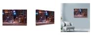 "Trademark Global Njr Photos 'Night Rush' Canvas Art - 24"" x 16"""