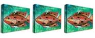 "Trademark Global Yonel 'Orange Fish' Canvas Art - 47"" x 35"""