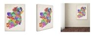 "Trademark Global Michael Tompsett 'Ireland Text Map 3' Canvas Art - 24"" x 16"""